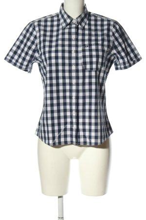 Abercrombie & Fitch Koszula z krótkim rękawem czarny-biały W stylu casual