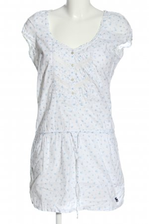 Abercrombie & Fitch Shortsleeve Dress white-blue allover print casual look