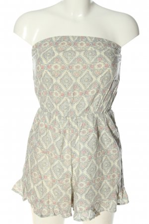 Abercrombie & Fitch Kurzer Jumpsuit natural white-blue allover print casual look