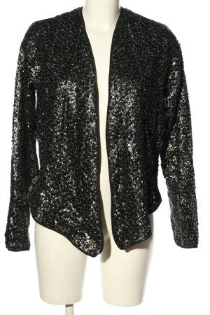 Abercrombie & Fitch Kurzjacke schwarz-silberfarben Casual-Look