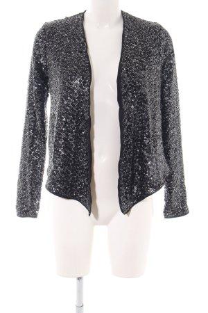 Abercrombie & Fitch Kurzjacke schwarz-silberfarben Elegant