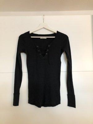 Abercrombie & Fitch Camisa acanalada negro