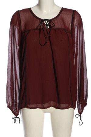Abercrombie & Fitch Camicetta a maniche lunghe rosso-nero stile casual