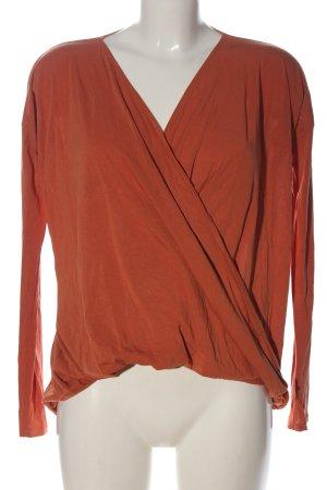 Abercrombie & Fitch Bluzka z długim rękawem jasny pomarańczowy W stylu casual