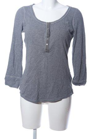 Abercrombie & Fitch Koszulka z długim rękawem jasnoszary Melanżowy
