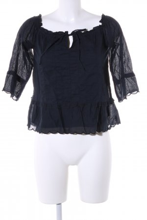 Abercrombie & Fitch Langarm-Bluse schwarz Casual-Look
