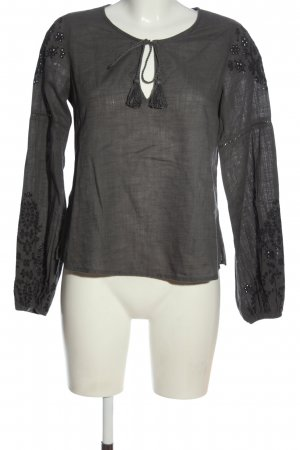 Abercrombie & Fitch Langarm-Bluse hellgrau Casual-Look