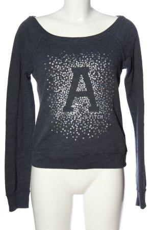 Abercrombie & Fitch Rundhalspullover blau Motivdruck Casual-Look