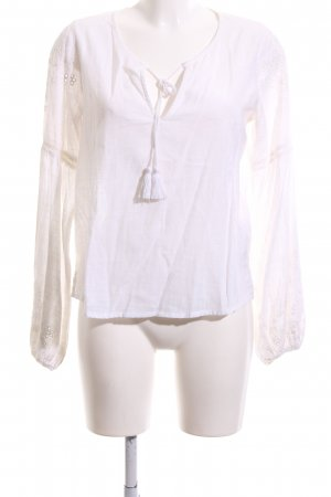 Abercrombie & Fitch Langarm-Bluse weiß Business-Look