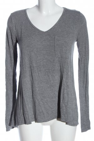 Abercrombie & Fitch Langarm-Bluse hellgrau meliert Casual-Look