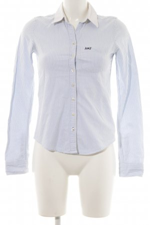 Abercrombie & Fitch Langarm-Bluse himmelblau-wollweiß Streifenmuster