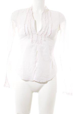Abercrombie & Fitch Blouse met lange mouwen wit-lichtroze gestreept patroon
