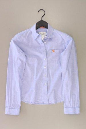 Abercrombie & Fitch Langarmbluse Größe S blau aus Baumwolle