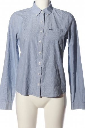 Abercrombie & Fitch Langarmhemd schwarz-weiß Business-Look
