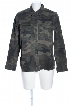 Abercrombie & Fitch Langarmhemd Camouflagemuster Casual-Look