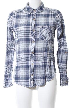Abercrombie & Fitch Langarmhemd blau-weiß Allover-Druck Casual-Look
