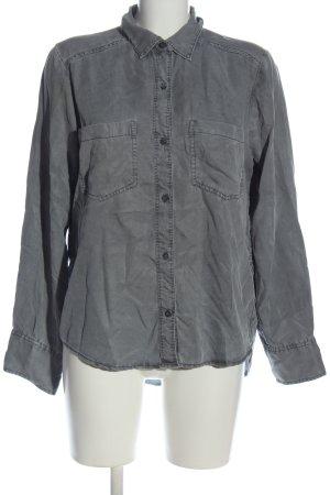 Abercrombie & Fitch Camicia a maniche lunghe grigio chiaro stile casual