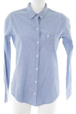Abercrombie & Fitch Langarmhemd blau meliert Business-Look