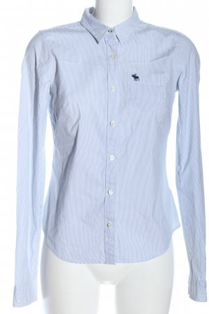 Abercrombie & Fitch Long Sleeve Shirt white-blue allover print business style