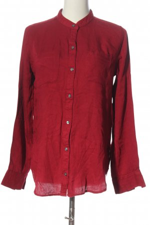 Abercrombie & Fitch Langarmhemd rot Casual-Look