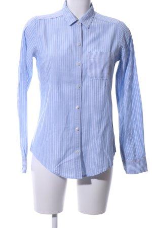 Abercrombie & Fitch Langarmhemd blau-weiß Streifenmuster Business-Look