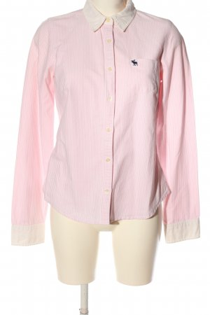 Abercrombie & Fitch Long Sleeve Shirt pink allover print business style