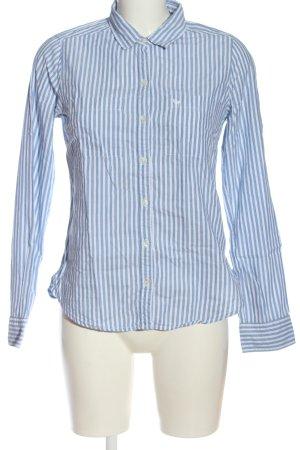 Abercrombie & Fitch Chemise à manches longues bleu-blanc motif rayé