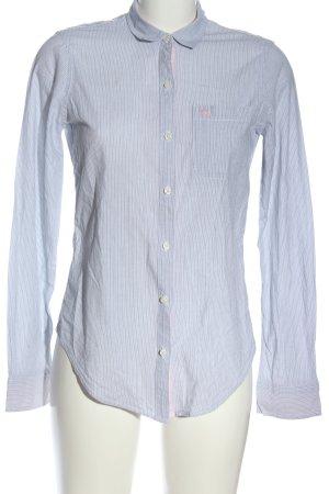 Abercrombie & Fitch Koszula z długim rękawem niebieski-biały Wzór w paski