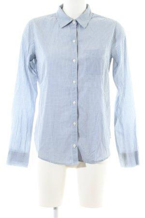 Abercrombie & Fitch Langarmhemd blau-weiß Karomuster Business-Look