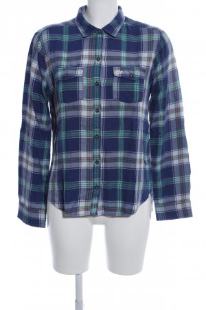 Abercrombie & Fitch Langarmhemd blau Allover-Druck Casual-Look