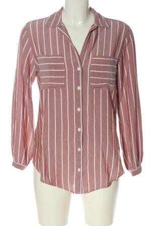 Abercrombie & Fitch Langarmhemd braun-weiß Allover-Druck Casual-Look