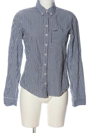 Abercrombie & Fitch Shirt met lange mouwen blauw-wit volledige print