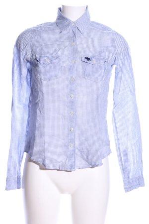 Abercrombie & Fitch Langarmhemd blau Karomuster Casual-Look