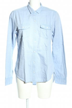 Abercrombie & Fitch Langarmhemd blau Casual-Look