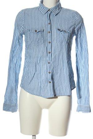 Abercrombie & Fitch Camisa de manga larga azul estampado a rayas