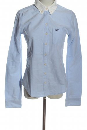 Abercrombie & Fitch Shirt met lange mouwen blauw-wolwit zakelijke stijl