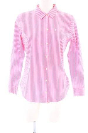 Abercrombie & Fitch Camisa de manga larga rosa-blanco estampado a rayas