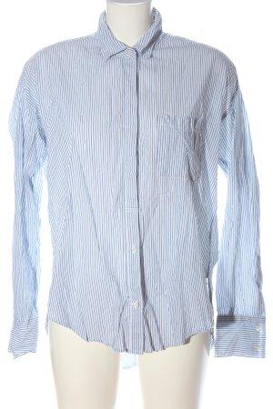 Abercrombie & Fitch Shirt met lange mouwen blauw gestreept patroon