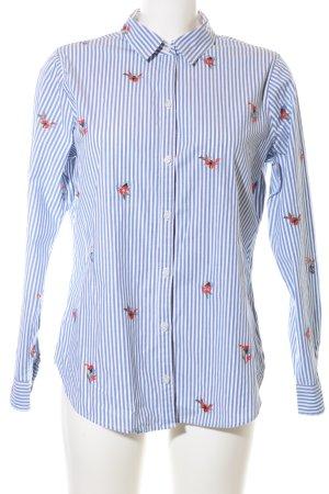 Abercrombie & Fitch Shirt met lange mouwen blauw-wit bloemenprint