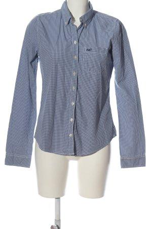 Abercrombie & Fitch Langarmhemd blau-weiß Karomuster Casual-Look