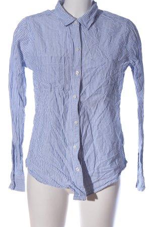 Abercrombie & Fitch Langarmhemd blau-weiß Streifenmuster Casual-Look