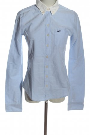 Abercrombie & Fitch Langarmhemd blau-wollweiß Business-Look