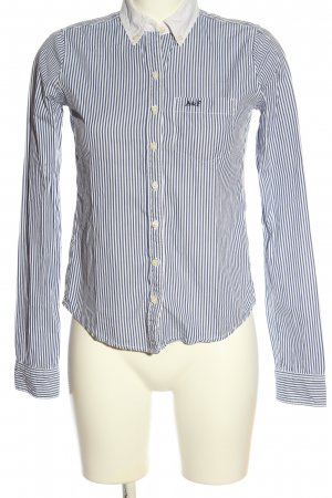 Abercrombie & Fitch Langarmhemd hellgrau-weiß Streifenmuster Business-Look