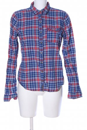 Abercrombie & Fitch Langarmhemd blau-rot Allover-Druck Casual-Look