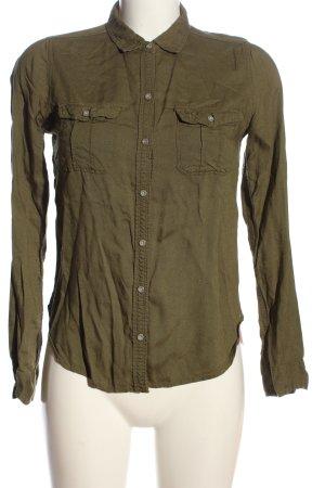 Abercrombie & Fitch Shirt met lange mouwen khaki casual uitstraling