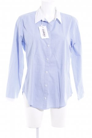Abercrombie & Fitch Long Sleeve Shirt azure-white business style