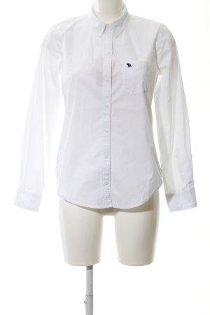 Abercrombie & Fitch Langarmhemd weiß klassischer Stil