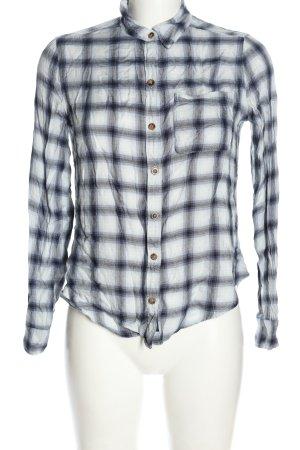 Abercrombie & Fitch Langarmhemd weiß-schwarz Karomuster Casual-Look