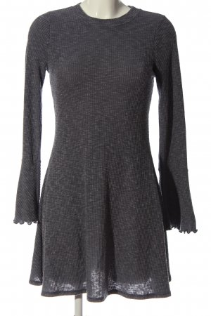 Abercrombie & Fitch Abito a maniche lunghe grigio chiaro puntinato stile casual