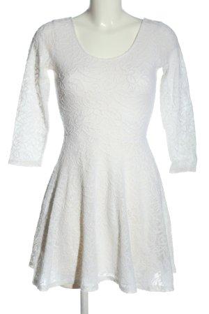 Abercrombie & Fitch Langarmkleid weiß Elegant
